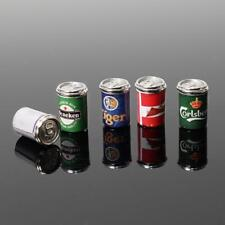 5X*DIY~Mini Beer Drinks Can Set For 1:12 Miniature Dollhouse Decor Gift^