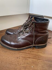 Frye Brown Leather Boots Size 11