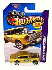 Hot Wheels 2013 hw workshop 55 chevy bel air gasser gold 1:64 #190 / 250