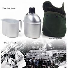 0.9L Aluminum kettle lunch Box Kit Outdoor Camping Army Water Bottle Canteen
