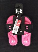 Under Armour Girls Slides(Ignite)Pink Size 5Y Brand New**LAST 2 PAIR**
