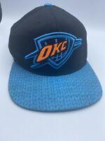 adidas OKC Oklahoma City Thunder NBA Snapback Hat Cap Big Logo FREE SHIPPING