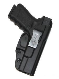 For Glock 19 19X 23 (Gen 3,4,5) IWB Concealed Carry Gun Holster (Black Polymer)