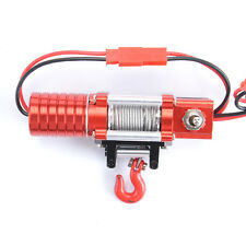 1X Metal 1:10 Crawler Electric Winch For RC 1/10 D90 4WD SCX10 Wrangler Jeep Car