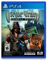PLAYSTATION 4 PS4 VIDEO GAME VICTOR KRUM OVERKILL EDITION BRAND NEW AND SEALED