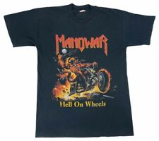 Vintage Manowar Hell On Wheels 1997 Tour Mens Screen Stars T-Shirt Black Tee M