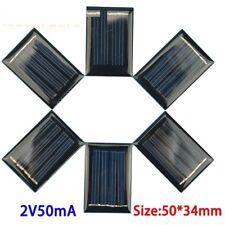 Panel células solares de energía Micro Mini 2V 50mA 50*34*3mm 1.2V Cargador De Batería De Juguete