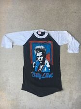 Rare Vintage Billy Idol White Wedding Tour 1980s Rock Concert Tee Shirt S Small