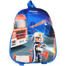 Playmobil City Action Feuerwehr - Kinder Rucksack Tasche Schulrucksack Blau