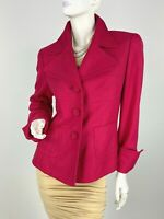 Escada New 8 US 38 D 44 IT M Pink Silk Cashmere Jacket Blazer Coat Runway Auth