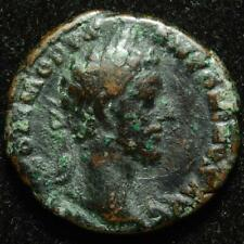 Commodus AE as, r. Roma stg l. holding Victory & spear, Rome 183AD - RIC 360