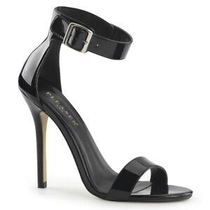 "PLEASER Amuse-10 5"" Heel Ankle-Strap Sandal"