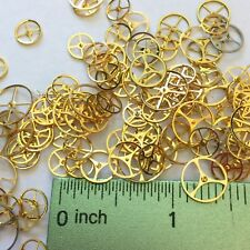 50 Watch Wheels Steampunk Gears Altered Art Repair Vtg Watchmakers Lot Gold