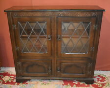 Oak Glazed Cabinet Cupboard - collection only Weymouth