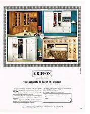 PUBLICITE  1970  GRIFFON   meubles rangements