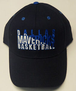 NBA Dallas Mavericks NBA Elevation Adult Raised Letters Structured Cap Hat NEW!