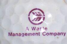 (1) A Waste Management Company Logo Golf Ball