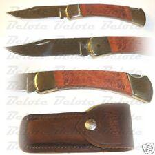 Buck Knives Limited Leather Folding Hunter 110Brsle New