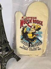 New French Moulin Rouge Set Mitt Glove France Paris Black Cat