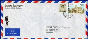 THAILAND - COVER WITH 2 STAMP FOR DENMARK