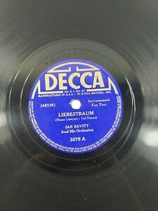 """Jan Savitt 78 Liebestraum / Meadowbrook Shuffle Shellac 10"""" Big Band Rare VG A2"""