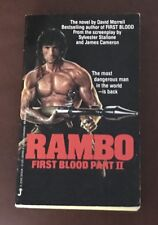 RAMBO  FIRST BLOOD PART II  DAVID MORRELL  MOVIE TIE IN PAPERBACK  1986  LATER