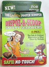 New listing 20 Dispoz-A-Scoop Safety No Touch Dog Poop Pet Waste Sanitary Scoopers New