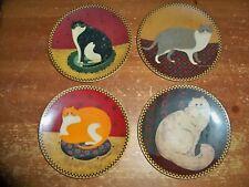 Lot Of 4 - Lenox Collectors Plates - Warren Kimble Cat - Fat Happy Welcome Taffy