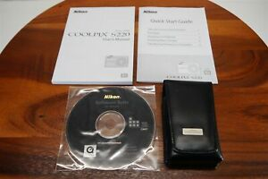 NIKON CoolPix S220 User Manuals + Disc + Leather Case ~ [Camera NOT Included]