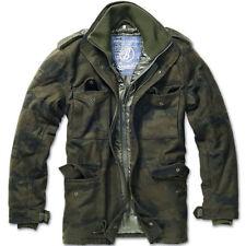 Cappotti e giacche da uomo parke marrone cerniera