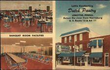 Lemoyne PA Dutch Pantry Multi-View Linen Postcard