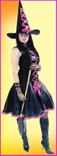 Classic WITCH COSTUME Pink Trim Halloween Birthday Fancy Dress Party WOMENS 1 sz