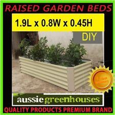 CREAM GREENHOUSE INSTANT VEGGIE HERB RAISED PLANTER BOX GARDEN BED- 45H