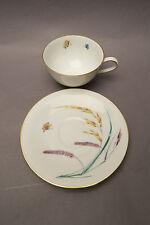 V&B Heinrich Anmut Sommer Schmetterling Gelb Getreide 2tlg Kaffee Tasse Teller