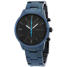 Fossil Townsman Chronograph Blue Stainless Steel Black Dial Watch FASTP&P FS5345