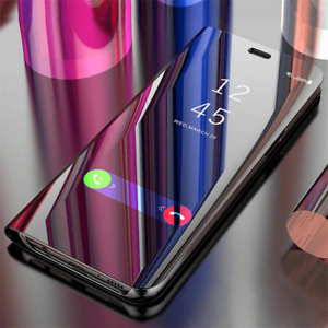 Smart Mirror Clear View Flip Hard Back Case Cover For Samsung Galaxy S8 S9 S10 +