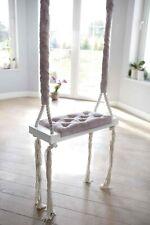 Kinderschaukel Babyschaukel Holz Stoff Rosa Prinzessin Vintage 60cm Top Angebot