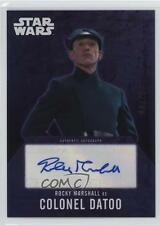 2016 Topps Star Wars Evolution ROMA Rocky Marshall as Colonel Datoo /25 Auto 1u0