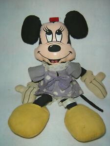 "Vintage Walt Disney Productions Minnie Mouse Rag Dolls Stuffed Toys 18"" Large"