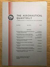 The Aeronautical Quarterly (Royal Aeronautical Society Journal) RARE May 1973