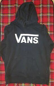 VANS Mens Classic Pullover Hoodie Hooded Jumper - Black White