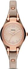 Women's Fossil Georgia Mini Leather Watch ES3262