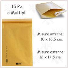 Mail LITE Imbottite Pluriball FODERATO BUSTA SACCHETTI POSTALI TUTTE LE TAGLIE BIANCO E ORO