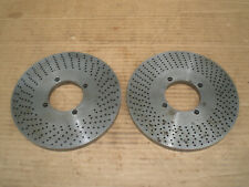 Two Index Plates For Dividing Head 2 14 Center 7 Od
