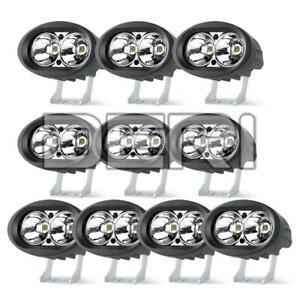 10X 4in LED White Work Light Bar Pod Fog Spot 4WD Off-road SUV UTV Driving Truck
