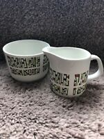 J&G Meakin - Bagatelle print Sugar bowl and creamer tea set