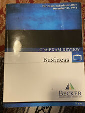 Becker Professional CPA Exam Review (Business, Financial, Regulation, Auditing)