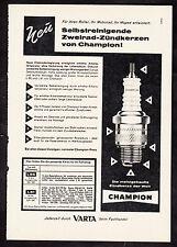 3w2093/ Alte Reklame von 1960 - CHAMPION Zündkerzen