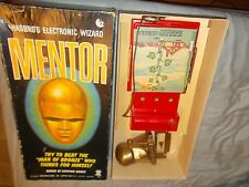 Vintage MENTOR 1960 HASBRO Electronic Wizard Game Box and 8 Game Cards