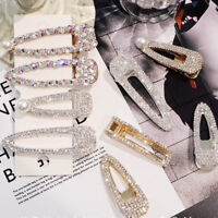 1PC Fashion Girls Crystal Hair Clip Snap Barrette Hairpin Bobby Hair Accessories